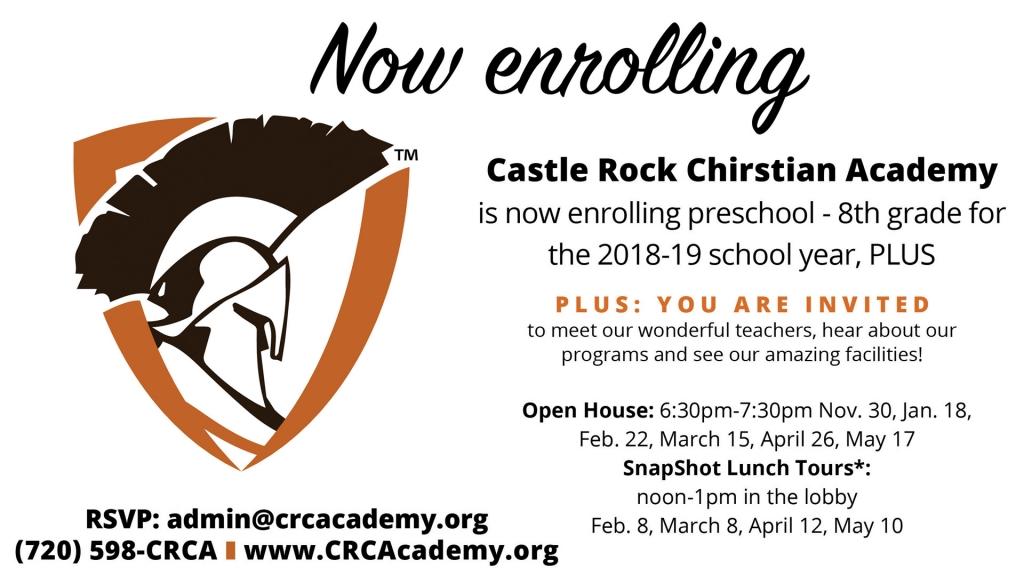 CRCA Now Enrolling